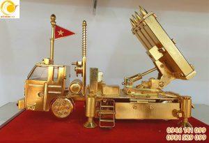 Mô hình tên lửa S 300 đồng mạ vàng 24k